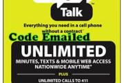 Straight Talk $45 Unlimited Card
